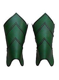 Beinschienen - Drachenreiter grün