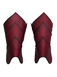 Beinschienen - Drachenreiter rot