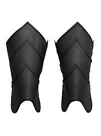 Beinschienen - Drachenreiter schwarz