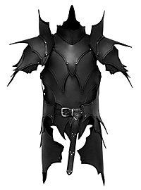 Lederrüstung mit Schultern und Beintaschen - Dunkelelf schwarz