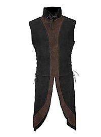 Leather Jerkin - Dwarf black-brown