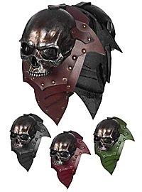 Épaulières en cuir - Seigneur des squelettes couleur métal (paire)