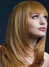 Feather cut with pony wig copper