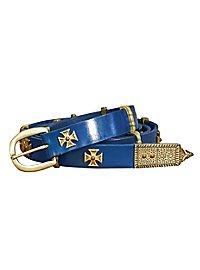 Fine ceinture de croisé bleue