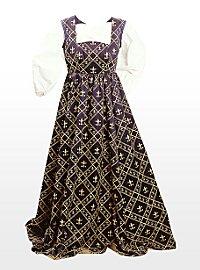 Mittelalter Kleid - Fleur de Lis, blau