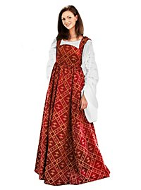 Mittelalter Kleid - Fleur-De-Lis, rot