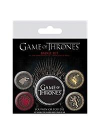Game of Thrones - Ansteck-Buttons Die vier großen Häuser