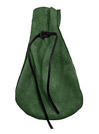 Lederbeutel - Pfifferling grün