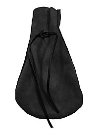 Lederbeutel - Pfifferling schwarz