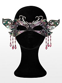 Glistening Butterfly Leather Eye Mask