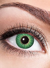 Green iris contact lens with diopters