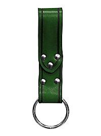 Gürtelschlaufe grün mit Ring