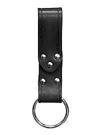 Gürtelschlaufe mit Ring, schwarz