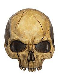 halved deco skull made of resin