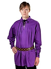 Mittelalter Hemd - Charles, violett