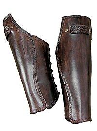 Beinschienen - Keltenkrieger dunkelbraun