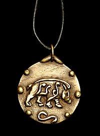 Medaillon - keltischer Eber