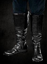 Kniehohe Stulpenstiefel schwarz