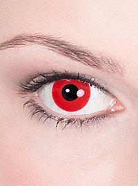 Kontaktlinse rot mit Dioptrien