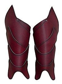 Beinschienen - Kriegsherr rot
