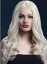 Lange Soft Curls Perücke hellblond