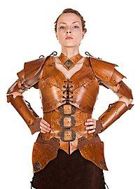 Leather armor set - Warrior, nut brown