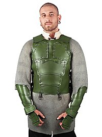 Leather Torso - Mercenary green