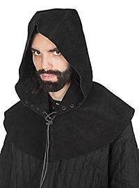 Leather hood - Rogue black
