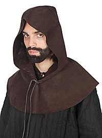 Leather hood - Rogue dark brown