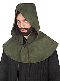 Leather hood - Rogue green