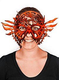 Leather mask - Clockwork red