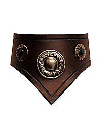 Lederhalsband - Comtesse braun
