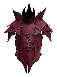 Lederrüstung mit Schultern - Dämon rot