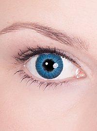 Lentille de contact correctrice iris bleu
