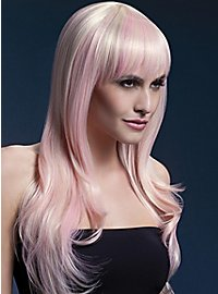 Long feather cut with pony wig candy