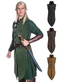Long gilet sans manche d'elfe de la forêt noir