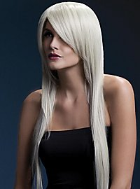 Long Straight Cut Wig blonde, side parting