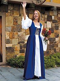 Mittelalter Kleid - Lucretia, blau