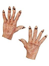 Mains de démon couleur peau