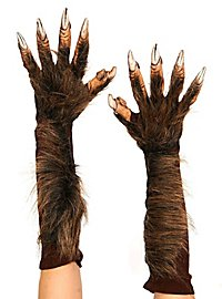 Mains de loup-garou en latex