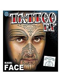 Maori Gesicht-Klebetattoo