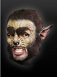 Masque de loup garou classique sans menton en latex