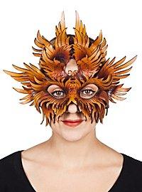 Masque en cuir - Amor (marron)