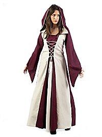 Medieval costume damsel bordeaux