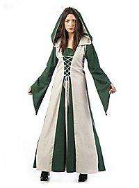 Medieval costume damsel dark green