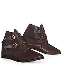 Medieval half boot with 2 buckles - Beutelbert