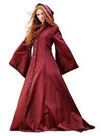 Medieval Hooded Coat crimson
