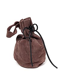 Suede Pouch - Heller dark brown