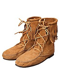 Suede half boots with fringe - Osceola