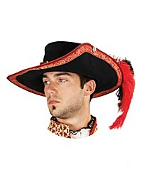 Musketeer Leather Hat red